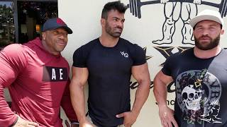 Iron Diaries Shawn Rhoden Stanimal and Sergi Constance Arm Day in The Mecca