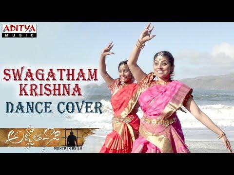 Swagatham Krishna Dance Cover By Anusha Kuchibhotla, Anvitha Pillati || Agnyathavaasi Songs