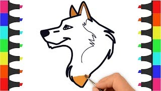 How to Draw and Color Dog for Kids - Dog Coloring Pages for Kids - Puppy Coloring – Kids Coloring