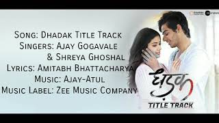 "Download lagu "" DHADAK TITLE TRACK"" Full Song With Lyrics ▪ Dhadak ▪ Ishaan & Jahnvi ▪ Ajay G & Shreya G"