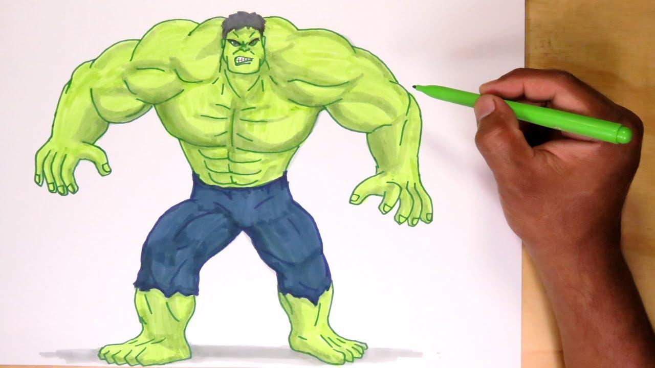 Cómo Dibujar Y Pintar A Hulk De Avengers How To Draw Avengers Hulk