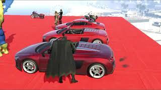 batman fährt und stürzt auto ab | lustige Animation