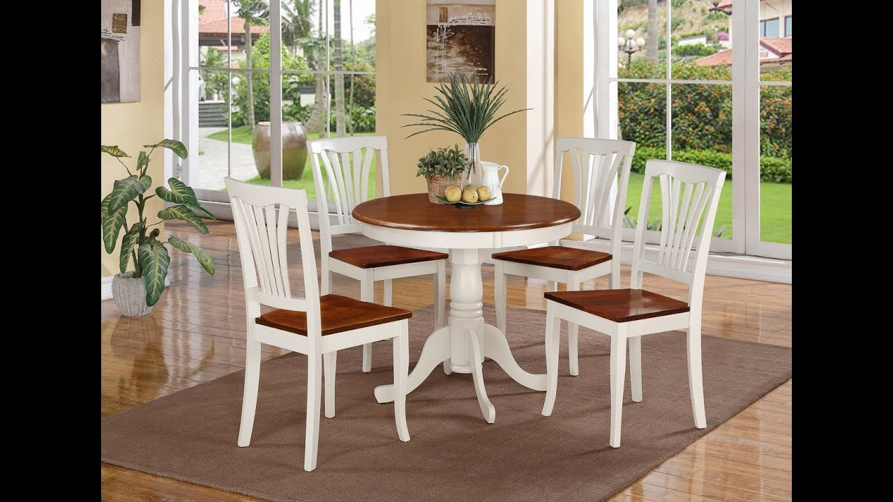 Small Round Dining Table Set - YouTube