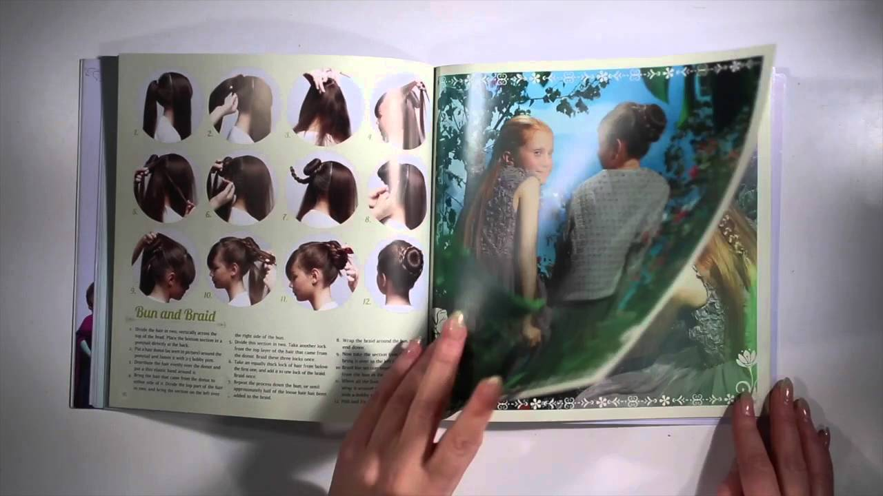 Frozen Hairstyles Hair Tutorial Book For Little Girls By Theodora Mjoll Youtube