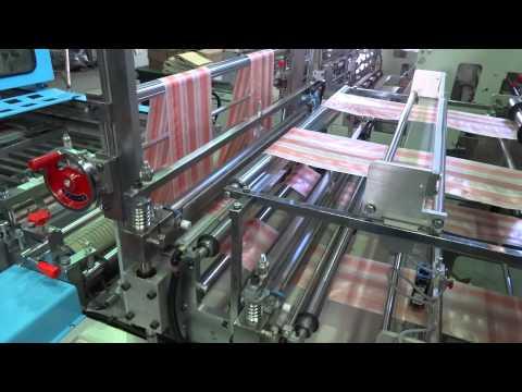 2014 Taipei International Plastics & Rubber Industry Show   2 Layer 4 Line T Shirt Bag Machine
