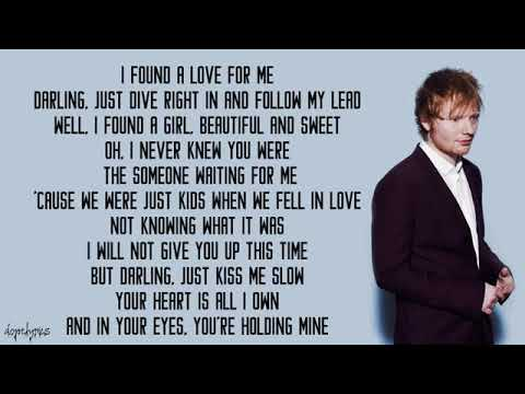 ED SHERREN (PERFECT)with lyric