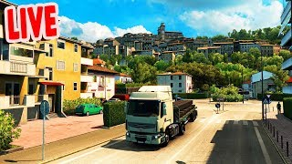 More Italy DLC Exploration LIVE | Euro Truck Simulator 2 Italy DLC Gameplay