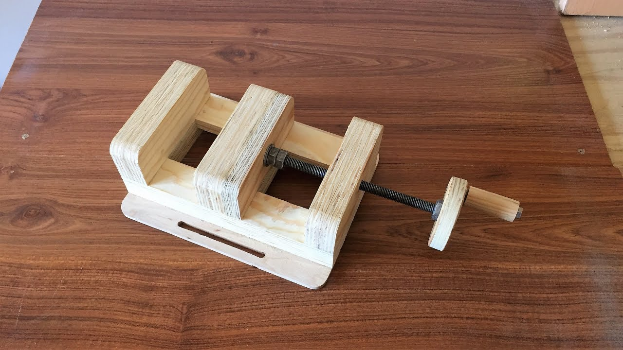 How To Make A Drill Press Vise El Yapimi Matkap Mengenesi