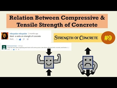 Relation Between Compressive and Tensile Strength of Concrete #9