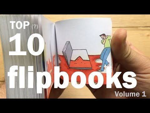 Top 10: Flipbooks (oddly satisfying)...compilation volume 1