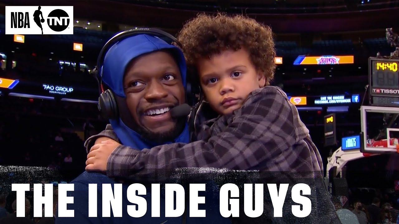 Download Julius Randle Brought His Son Kyden To His Pregame Interview With The Inside Crew   NBA on TNT