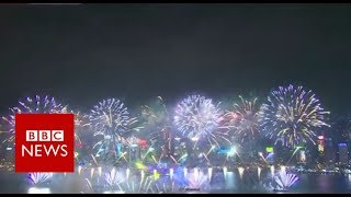 New Year Celebrations: Hong Kong welcomes in 2019 - BBC News