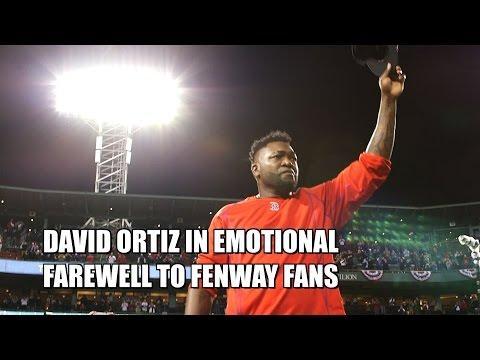 Big Papi David Ortiz Emotional Farewell to Red Sox Fenway Park Fans