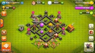 Clash of Clans - Best Town Hall 4 Defense! (Base Design)