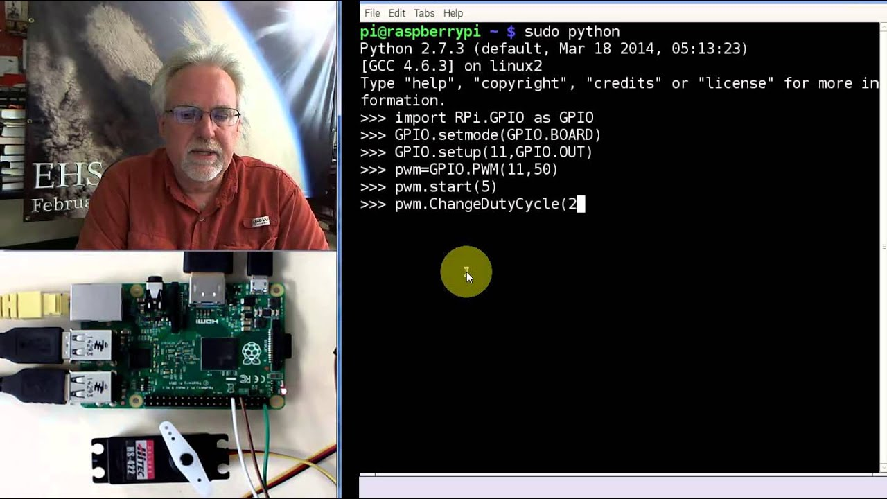 Raspberry Pi LESSON 28  Controlling a Servo with Raspberry Pi and Python