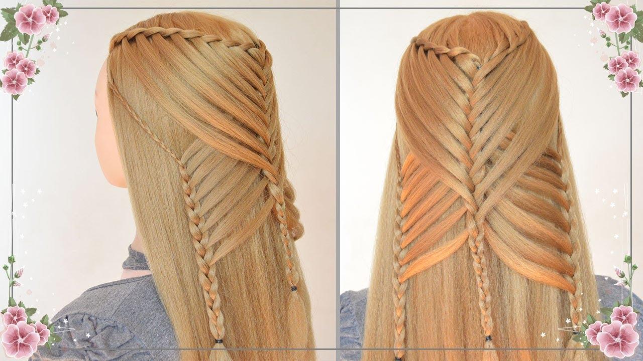 Peinados Faciles Y Rapidos Con Trenzas Para Cabello Largo Semirecogidos Para Niñas