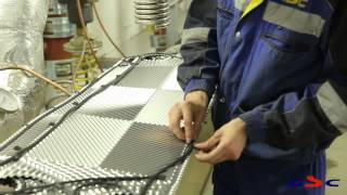 Замена уплотнений и очистка пластин теплообменников в НИИ Эндокринологии в Москве(В ходе работ специалистами