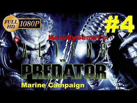 Aliens Vs Predator 2010 Gameplay Walkthrough - Marine Campaign (PC) Mission 4:  Ruins