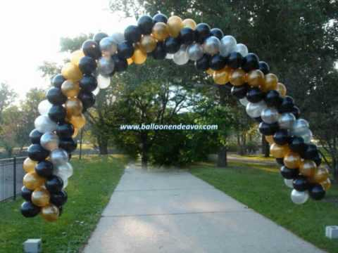 Helium balloon youtube for Balloon arch no helium