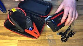 Auto Starthilfe YABER Powerbank Starthilfe 1200A Starterbatterie Power Pack unboxing und Anleitung