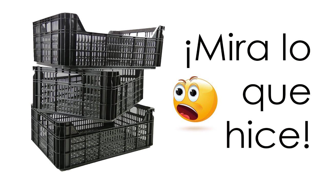 Qué Hacer Con Cajas De Frutas De Plástico Manualidades Recicladas Ecobrisa Youtube