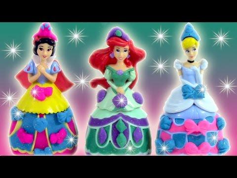 Pâte à modeler Princesse Cendrillon Arielle Blanche Neige Mix n match Disney Princesses
