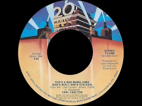 Carl Carlton ~ She's A Bad Mama Jama 1981 Disco Purrfection Version