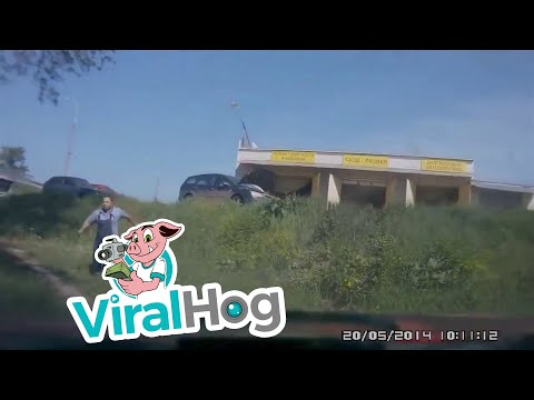 A.D. - Yikes! Car Rolls Into a Pond Because Its Brakes Aren't Working