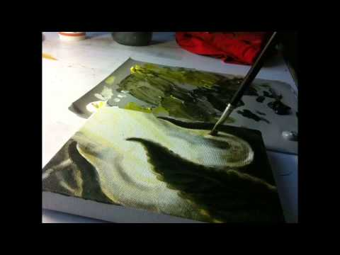 Adam France painting Bio-organic time lapse