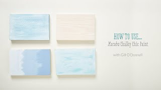 How to use Marabu Chalky Chic Paint with Gill O'Donnell