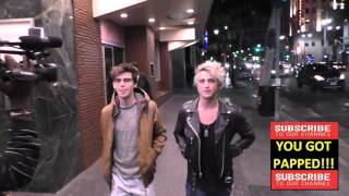 Dalton Rapattoni and Mackenzie Bourg have dinner at The Redbury in Hollywood