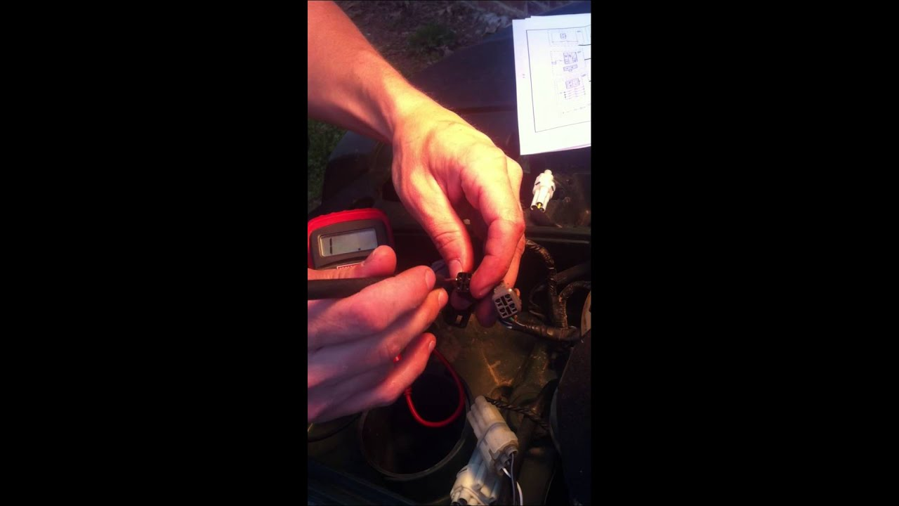hight resolution of testing the push button 4wd switch on yamaha atv s