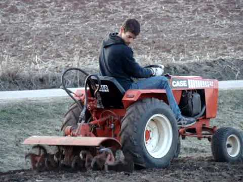 CASE Ingersoll 448 Garden Tractor Rototilling HARD Ground YouTube