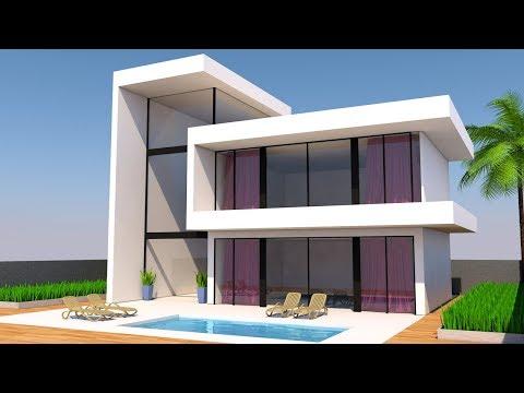 Cinema 4d Modeling Tutorial - Modern House | Cinema 4D Tutorial | C4D Tutorial