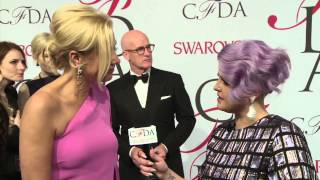 2015 CFDA Fashion Awards - Kelly Osbourne Talks with Nadja Swarovski