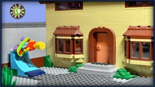 lego simpsons shopping movie homer simpson in kwik e mart never eat homer simpson s donuts