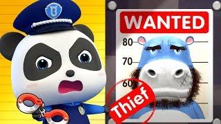 Bebek Panda Polis Hırsızı | Çocuklar Karikatür | Karikatür Bebek | Bebek Videoları | Polis Karikatür|BabyBus Yakalar