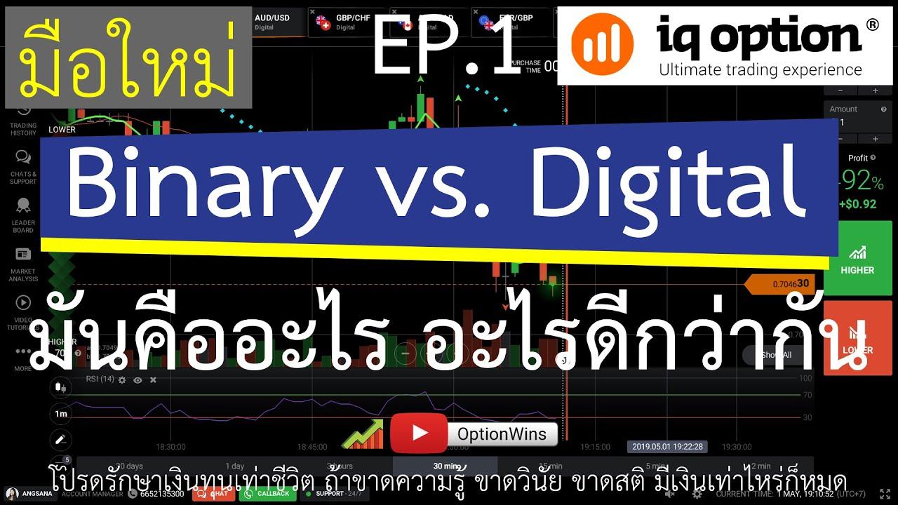 Binary vs. Digital Option แตกต่างกันอย่างไร 2019 [มือใหม่ IQOption EP.1]