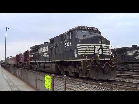 NC Triad Area Railfanning With NS 8103, Amtrak 156, EMD's, Research Train & UP C4460AC 11/14/2017