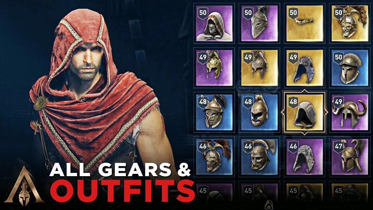 All Outfits Gears Alexios Assassin S Creed Odyssey Youtube