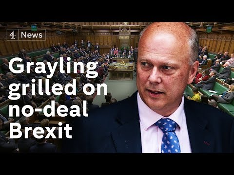 Transport Secretary's commons grilling over no deal Brexit plans  |#BREXIT