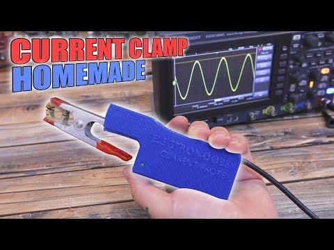 Homemade DC/AC oscilloscope current clamp