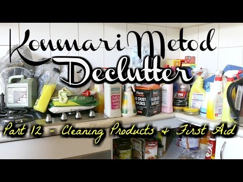 KonMari Method Declutter - Part 12 | Cleaning Products & First Aid