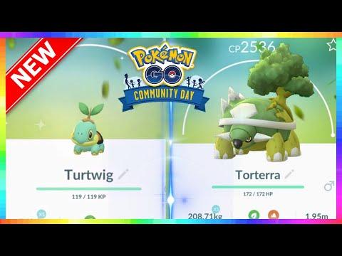 SHINY TURTWIG COMMUNITY DAY for SEPTEMBER in Pokemon Go
