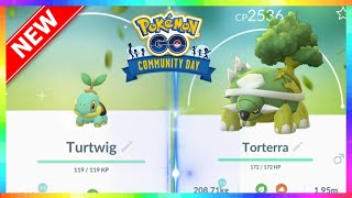 SHINY TURTWIG COMMUNITY DAY for SEPTEMBER in Pokemon Go! SPECIAL MOVE - WOOD HAMMER!