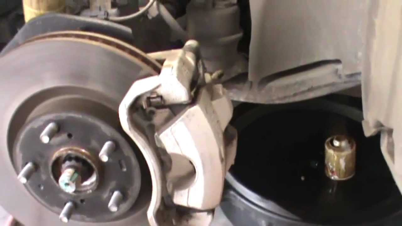 2007 Toyota Camry Front Disc Brake Replacement Youtube