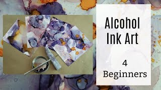 Top tips and tricks to create Alcohol ink art for beginners