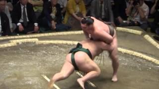 20140914 大相撲秋場所初日 白鵬vs千代大龍.