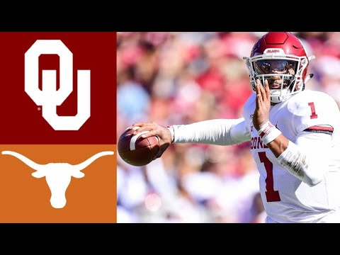 #6 Oklahoma vs #11 Texas Highlights | NCAAF Week 7 | College