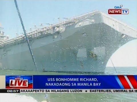 NTVL: USS Bonhomme Richard, nakadaong sa Manila Bay